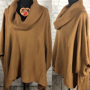 CowlNeck Shawl Pancho One Size